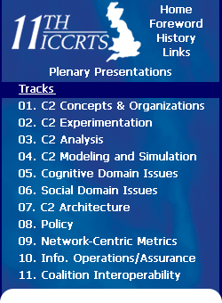 11th ICCRTS with the CCRP Publication Series